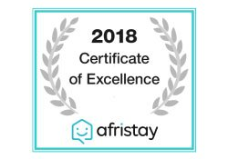 certificate of excellence 2018_afristay monte video guest house
