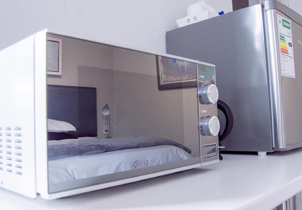silver sand room microwave